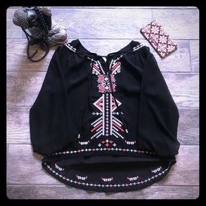 Truth NYC Blouse w Multi-colored Beading sz M